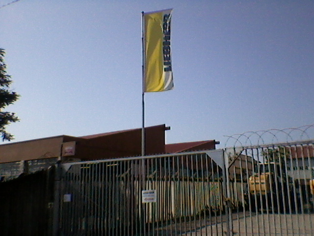 12M Flagpole with rotating arm