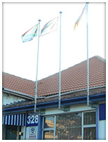 wall mount flagpoles