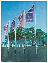 Vertical-Wall-Mount flagpoles